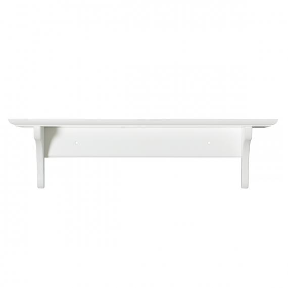 Hylla med krokar vit 20 x 60 cm, Oliver Furniture