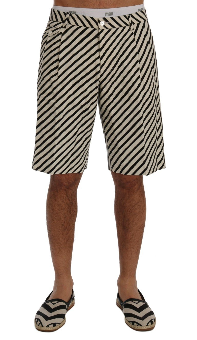 Dolce & Gabbana Men's Striped Hemp Casual Shorts Multicolor SIG60409 - IT44 | XS