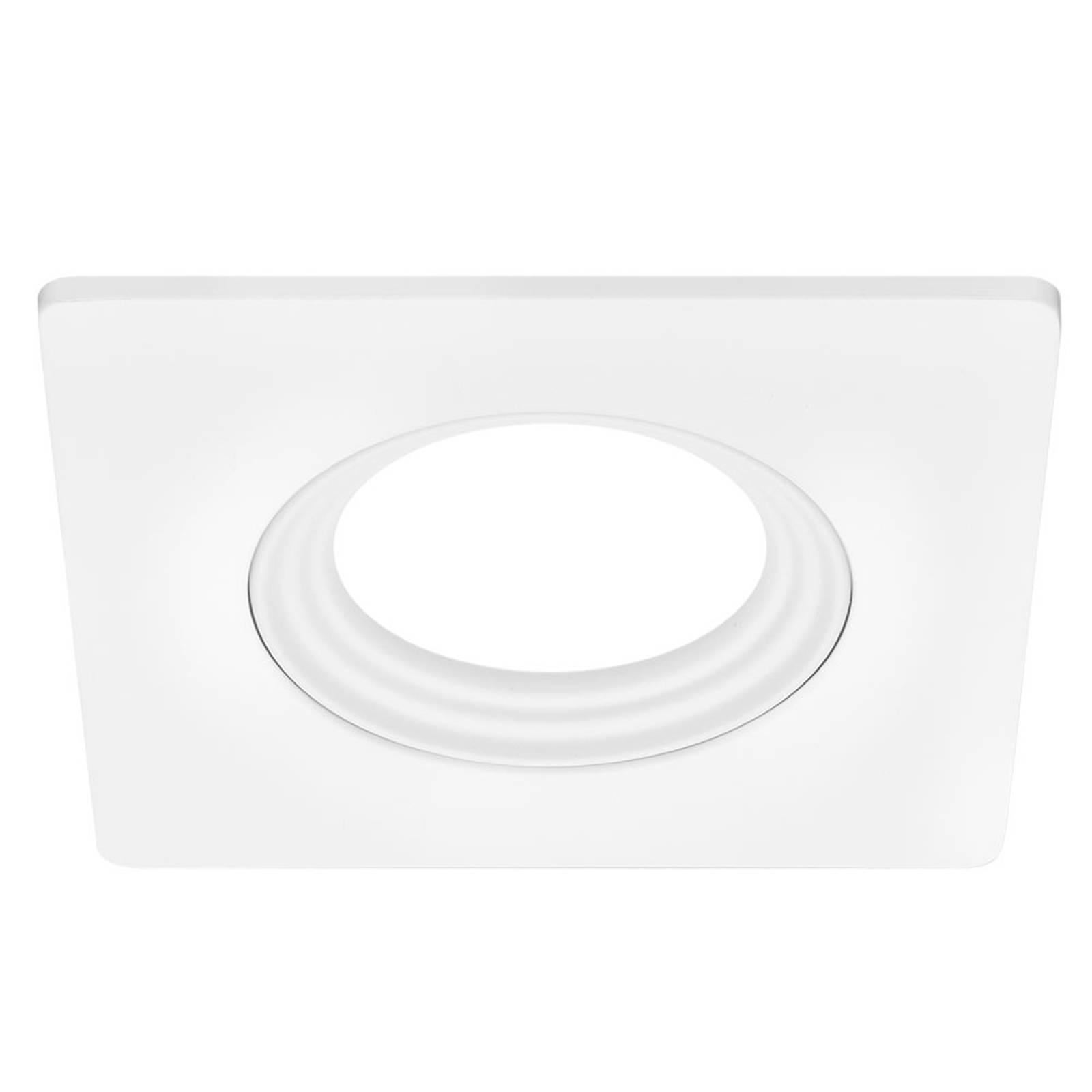 Kulmikas upotuskehys valkoinen (upotusaukko 6,8cm)