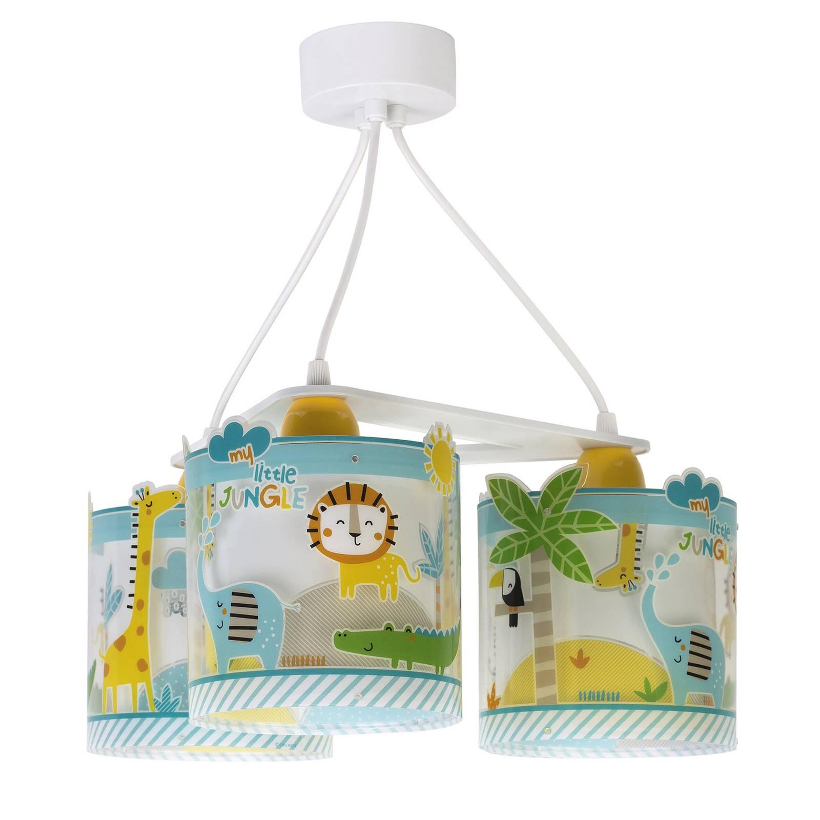 Lastenhuoneen riippuvalo Little Jungle, 3-lamp.