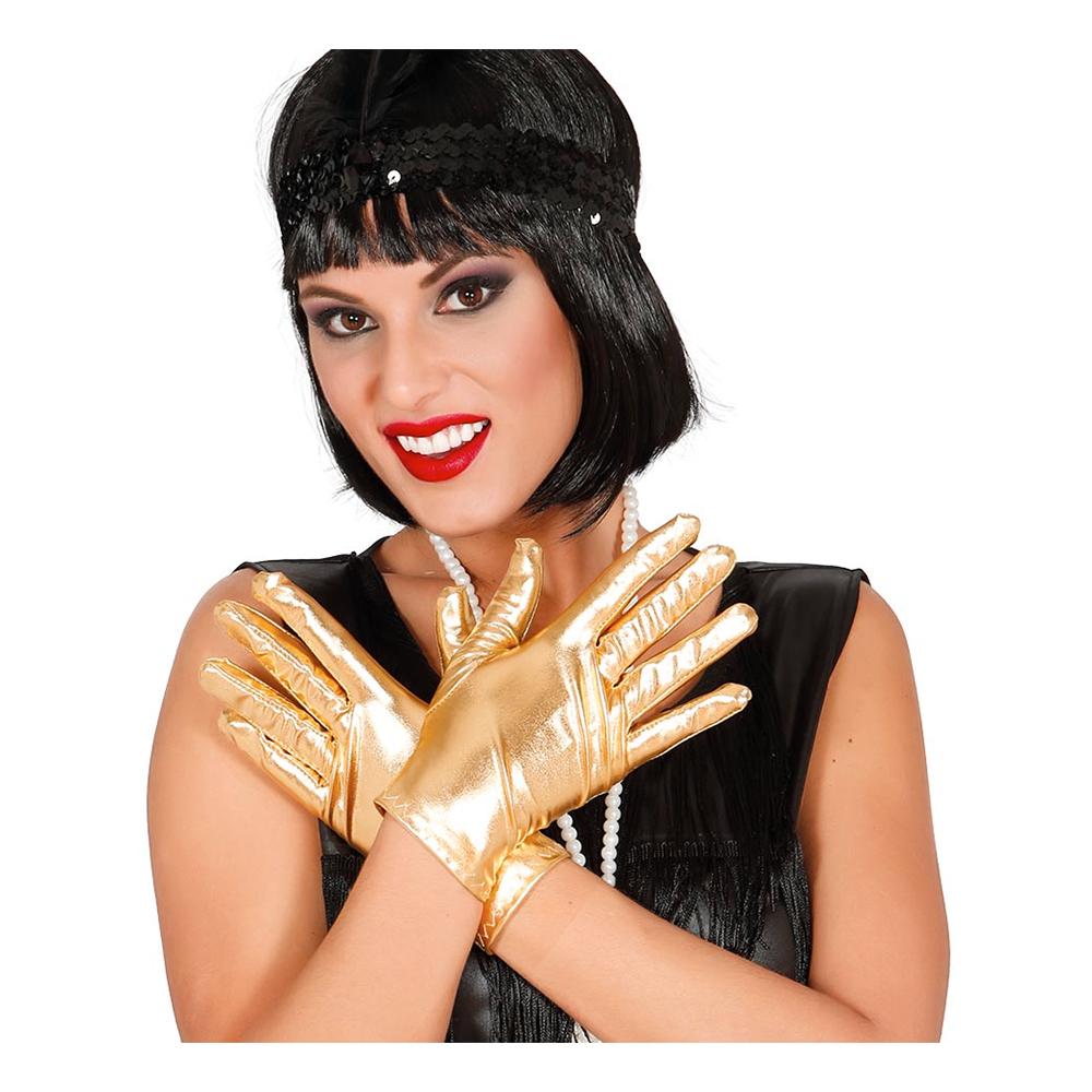 Korta Guldfärgade Handskar