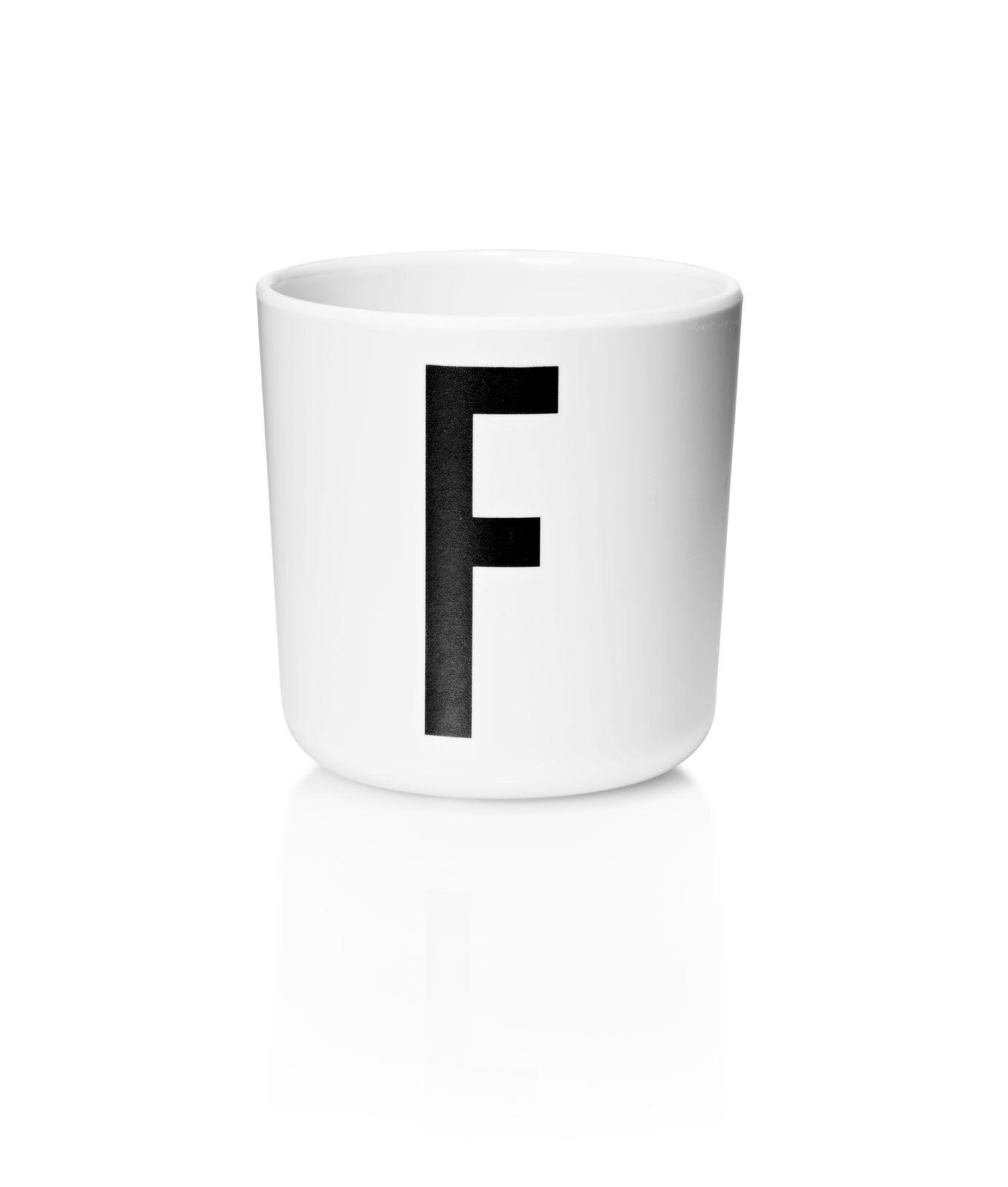 Design Letters - Personal Melamine Cup F - White (20201000F)