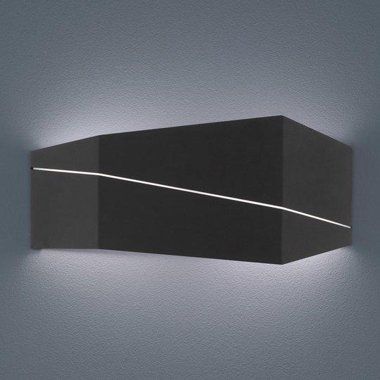 Zorro - moderni LED-seinävalaisin mattamusta 40 cm