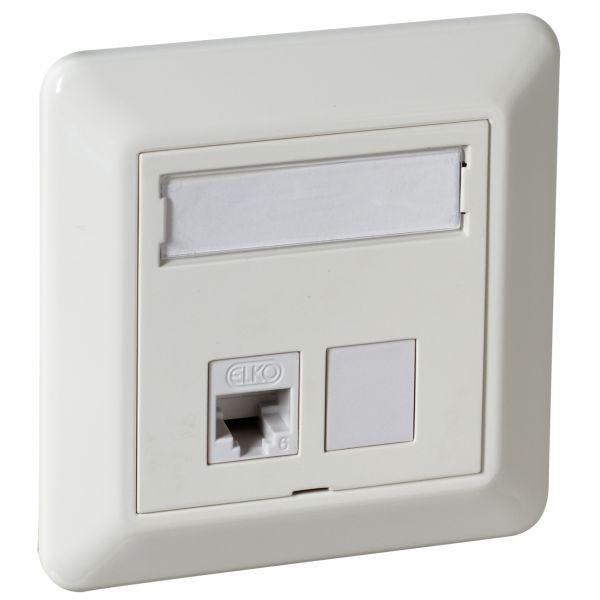 Elko UTP C6 TL Modulaarinen pistorasia upotettava, valkoinen 1 x 8 C6