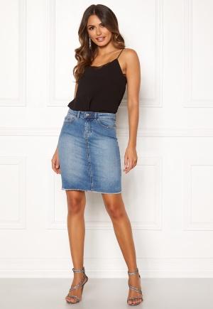 ONLY Eliza Reg Raw Edge Skirt Medium Blue Denim 34