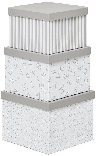 Alice & Fox Oppbevaringseske 3-pack, Grå