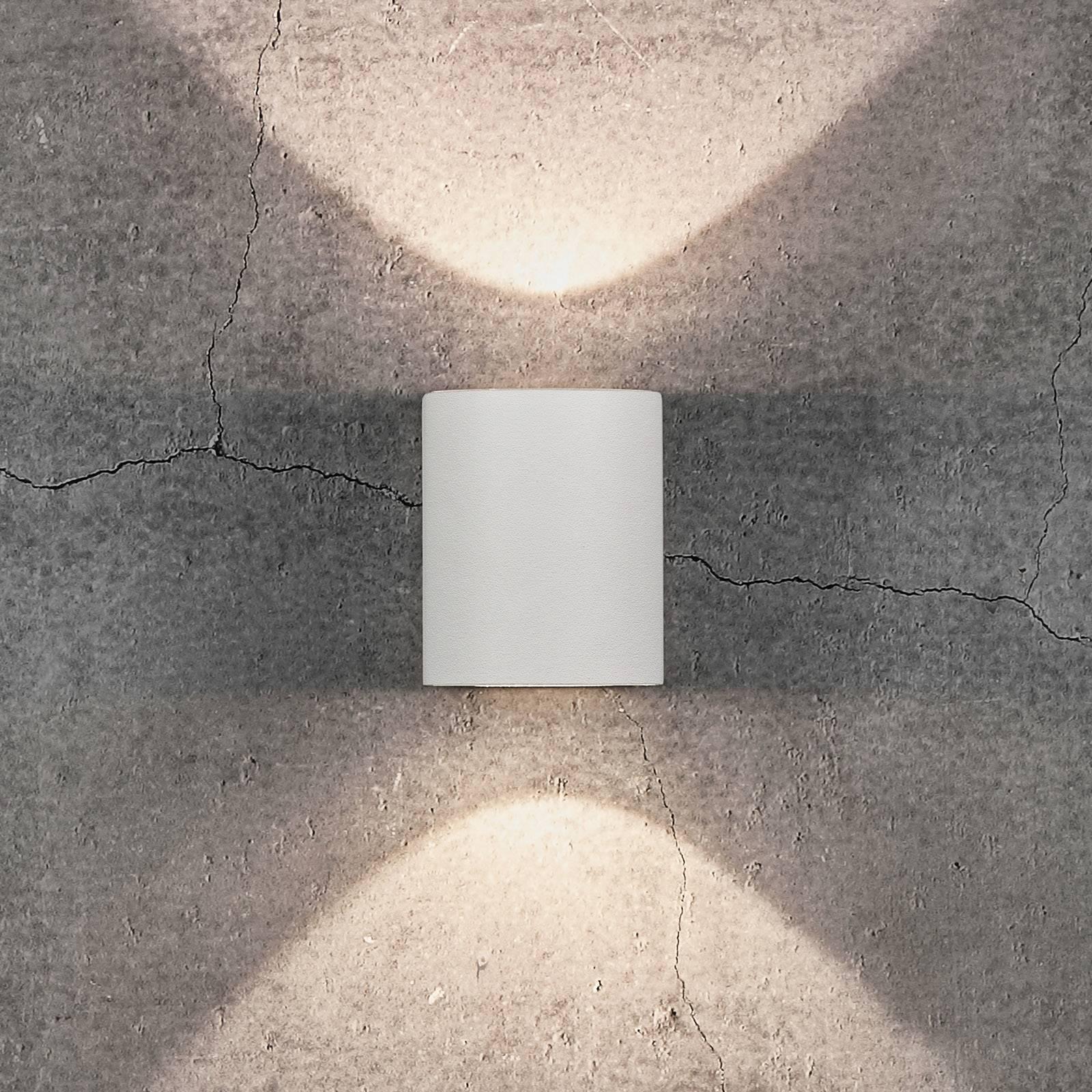 LED-ulkoseinävalaisin Canto 2, 10 cm, valkoinen