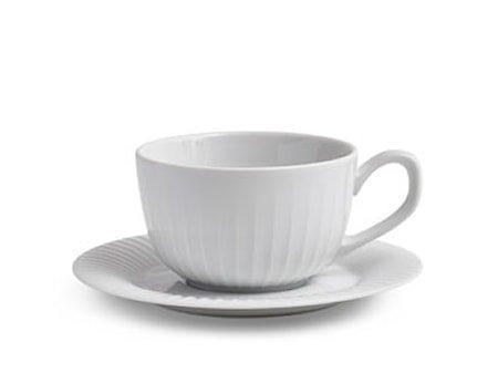 Hammershøi kopp med fat Hvit 25 cl