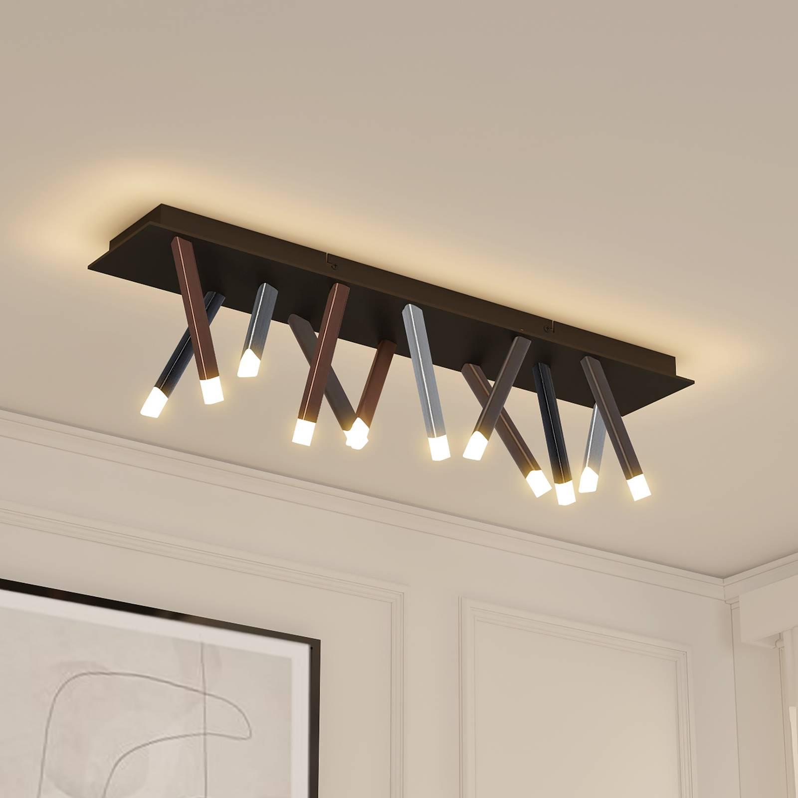 Lucande Stoika -LED-kattovalaisin, kulmikas