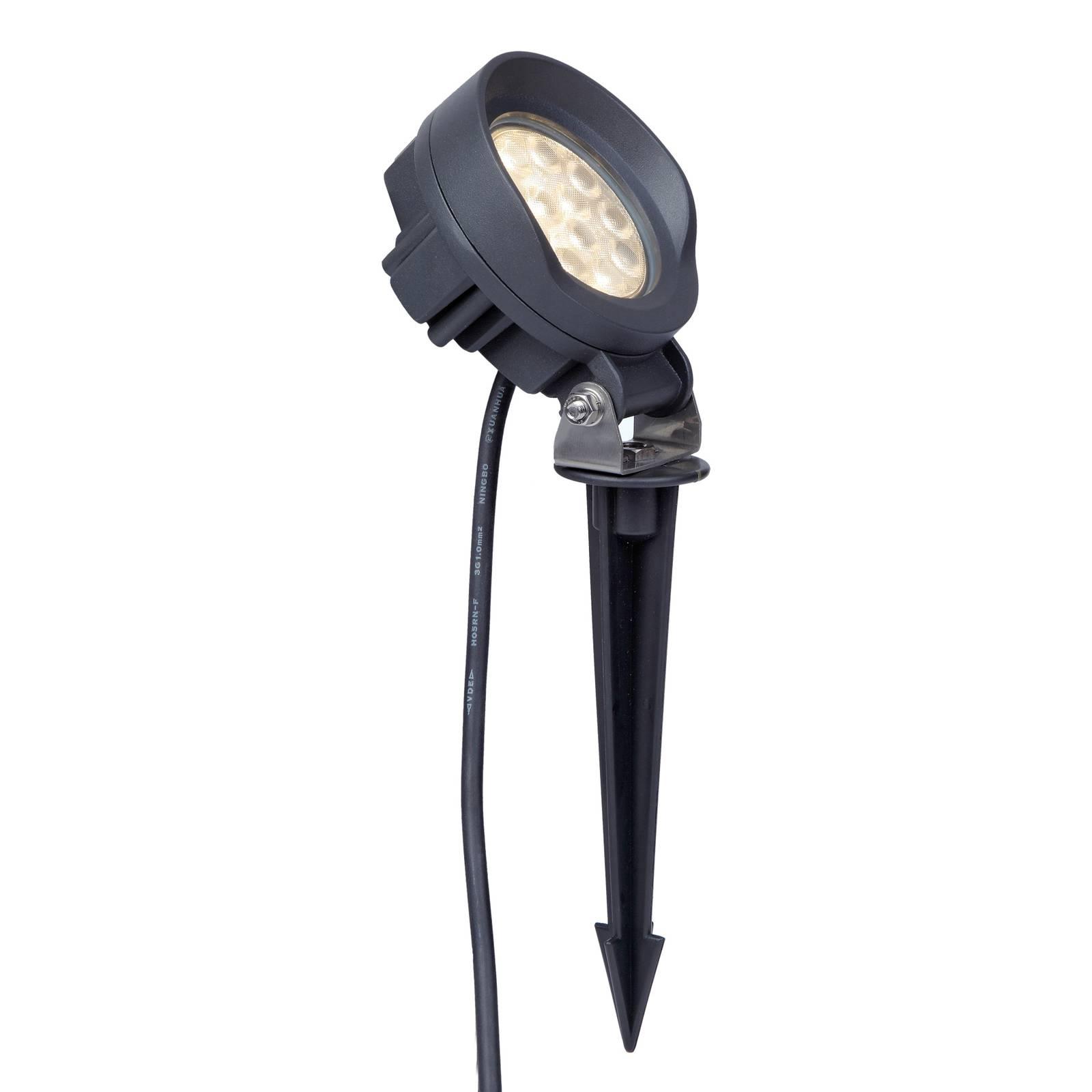Lindby Emar -LED-maapiikkikohdevalo, tummanharmaa