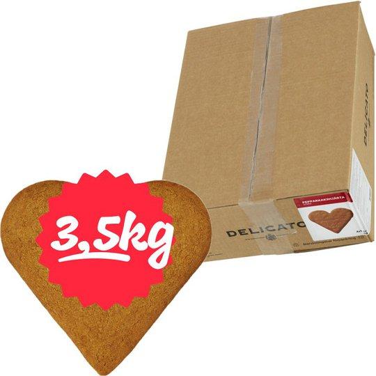 Hel Låda Pepparkakshjärtan 3,5kg - 60% rabatt