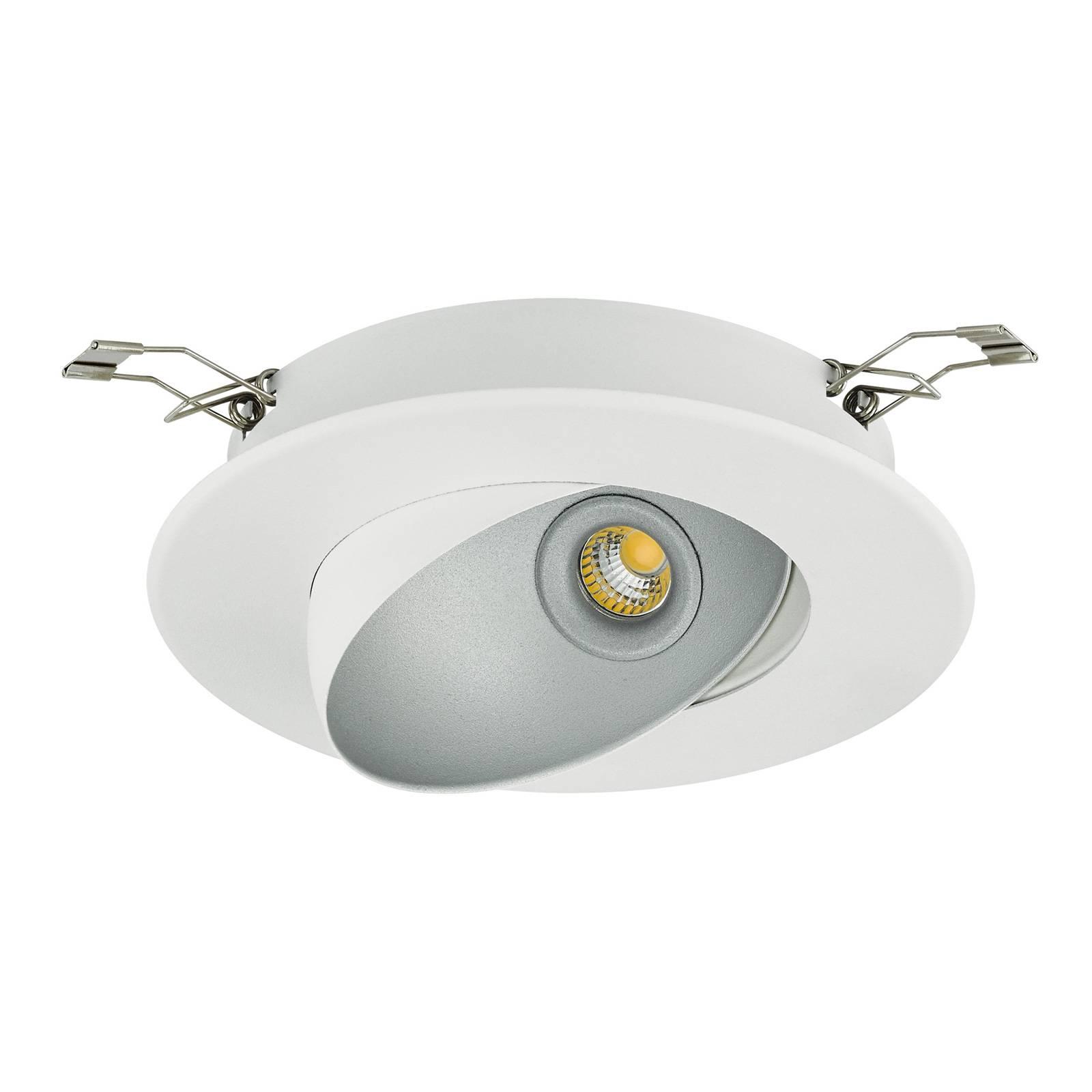 LED-kohdevalaisin Ronzano 1, valkoinen-hopea