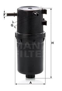 Polttoainesuodatin MANN-FILTER WK 9016