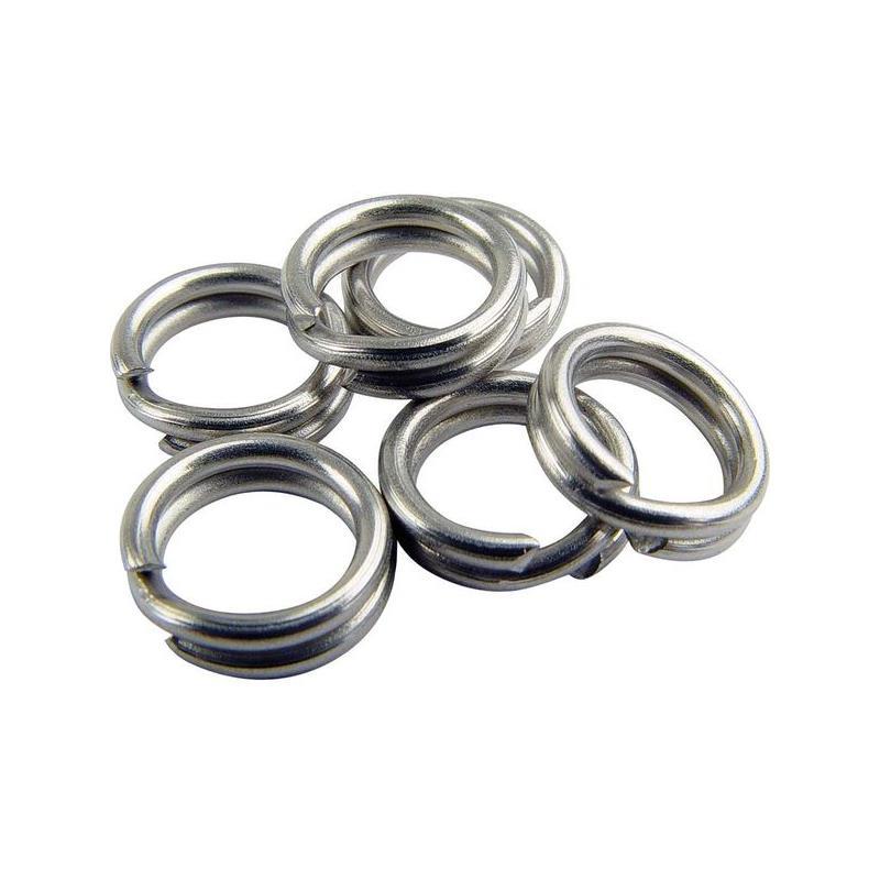 Mustad Stainless Split Ring 15mm. Rustfrie splittringer