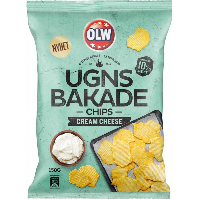 """Sipsit """"Cream Cheese"""" 150 g - 32% alennus"""