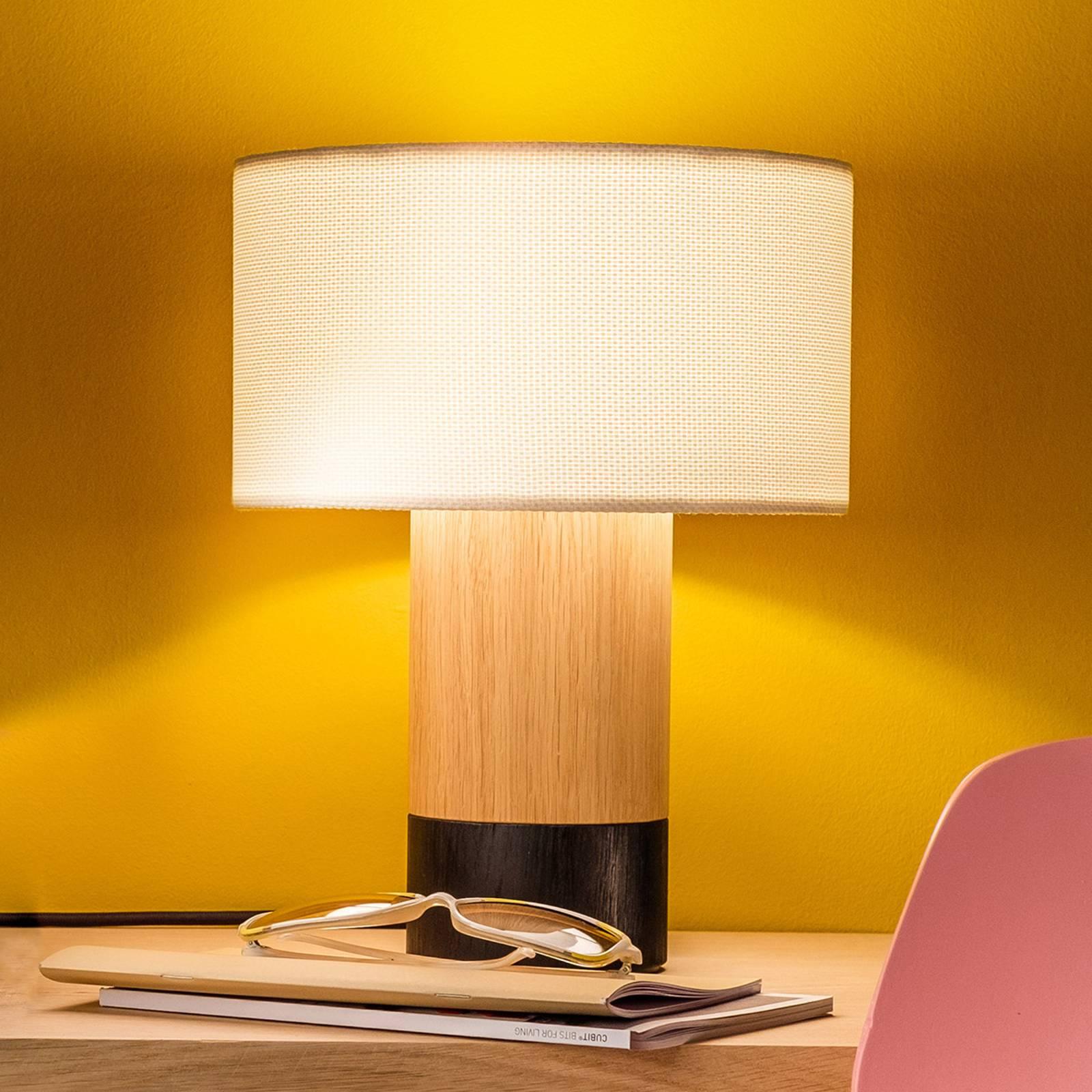 Pöytälamppu Klippa musta Trooper Alabaster, 31 cm