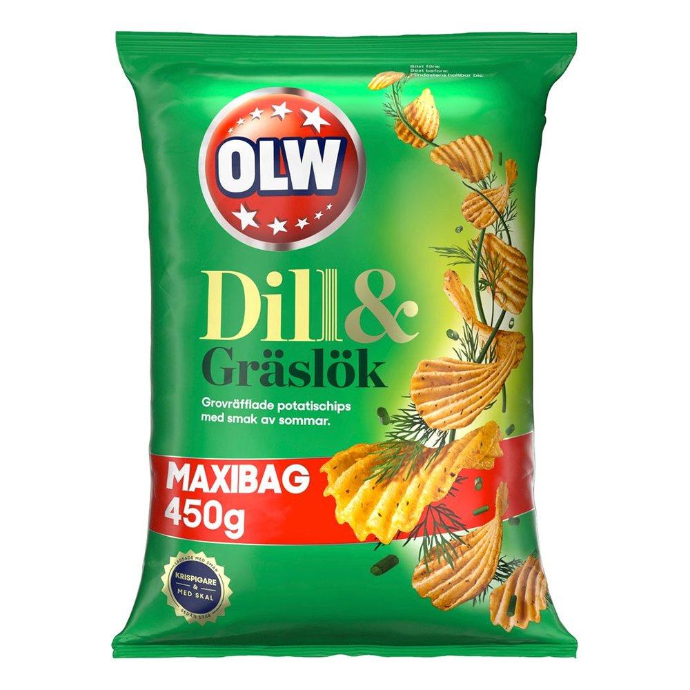 OLW Maxibag Dill & Gräslök - 450 gram