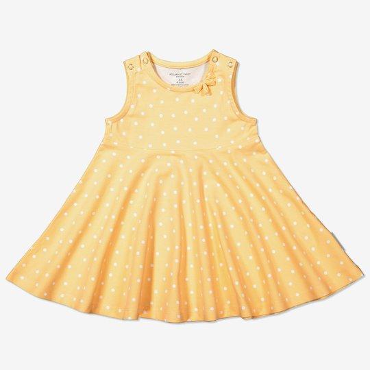 Prikkete kjole baby gul