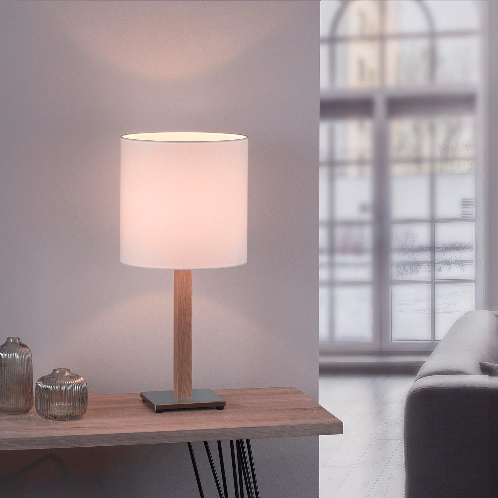 Lucande Elif -pöytä valkoinen kulmikas luonnon