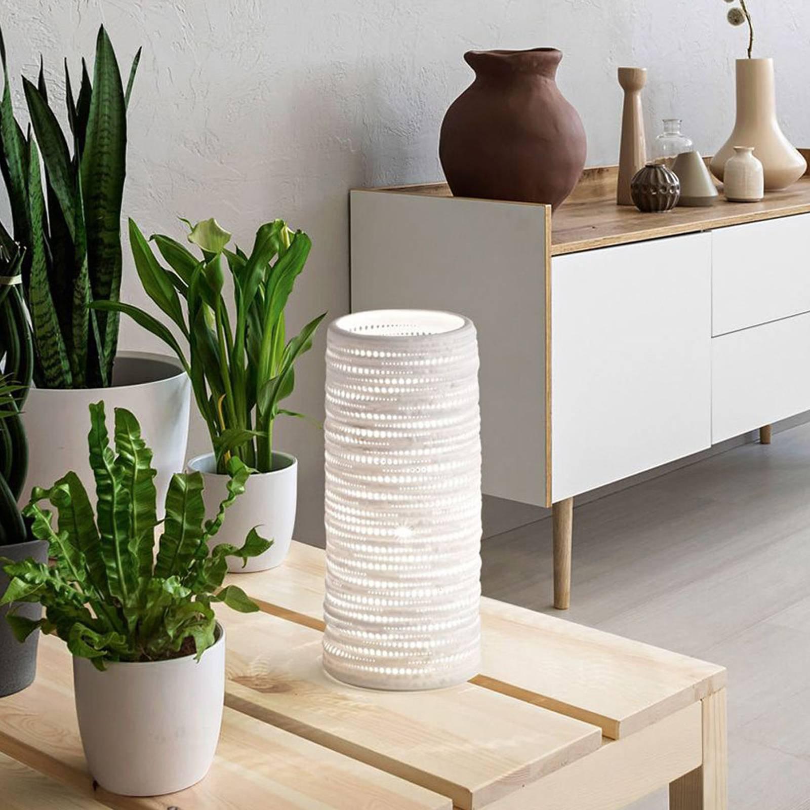 Bordlampe Marbella av keramikk, høyde 25 cm
