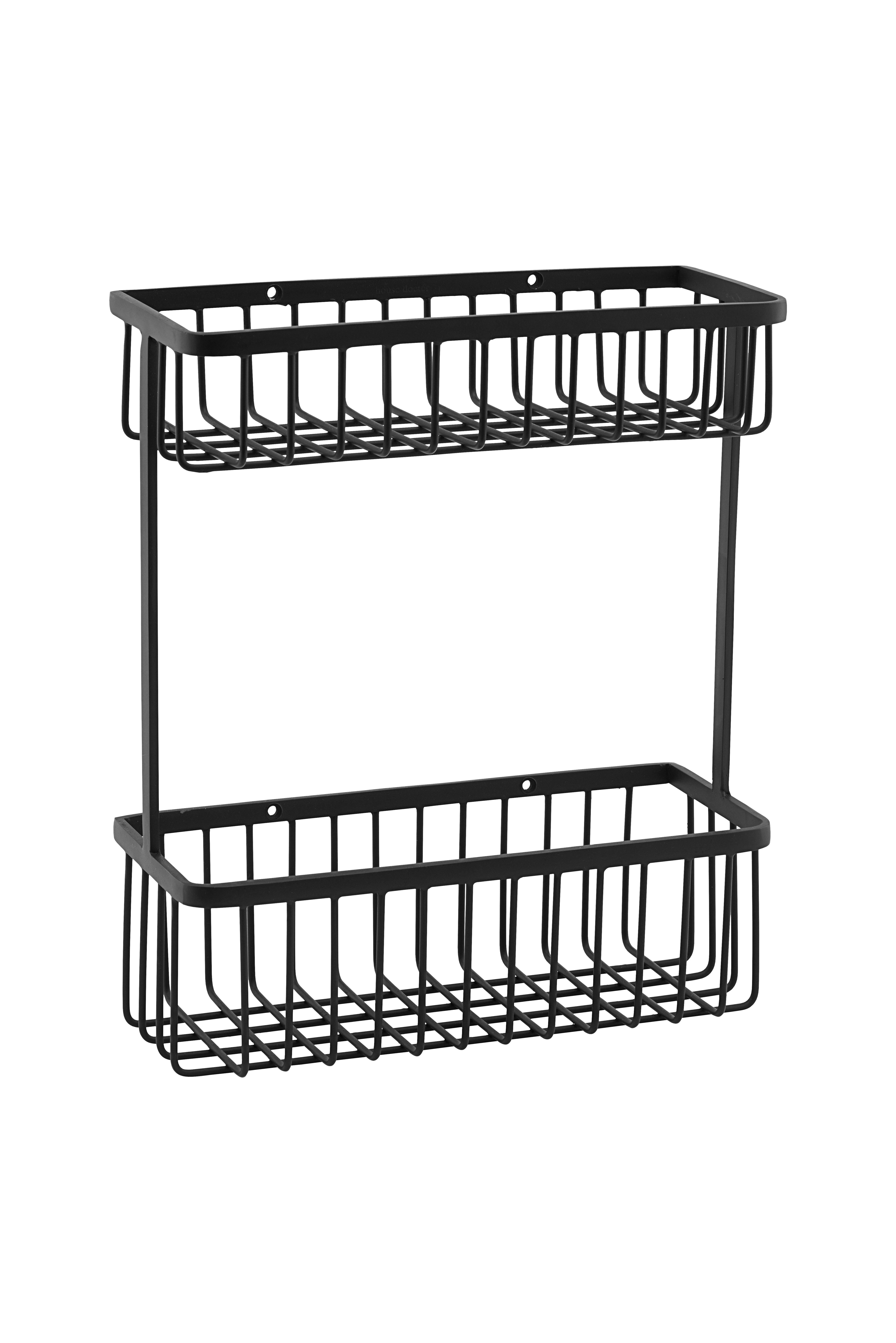 House Doctor - Bath Basket Medium - Black (WG0331)