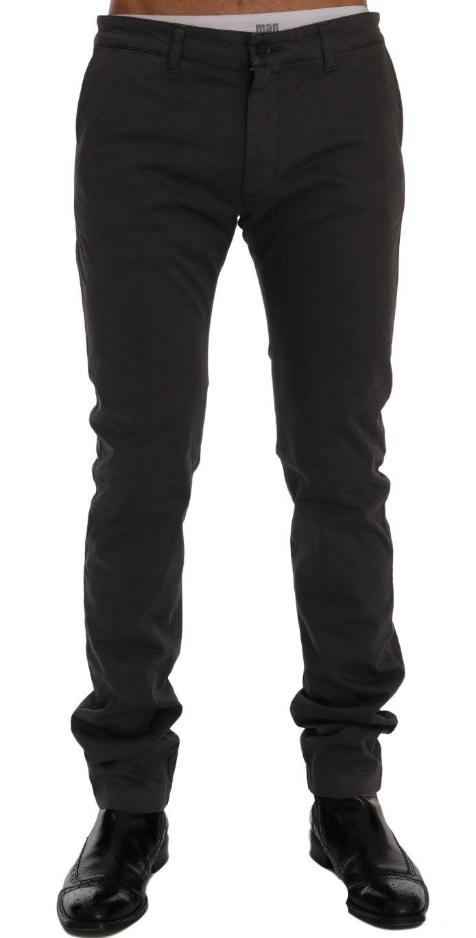 GF Ferre Men's Cotton Stretch Trouser Gray SIG60484 - IT56 | XXL