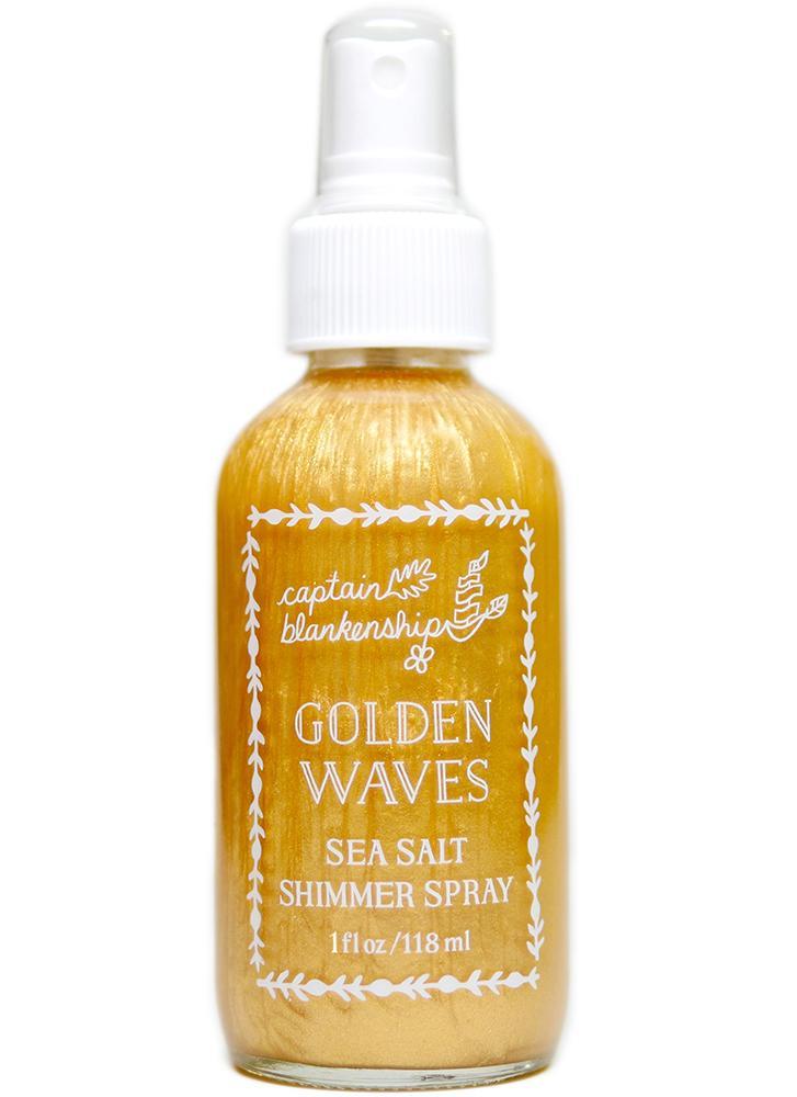 Captain Blankenship Golden Waves Sea Salt Shimmer Spray