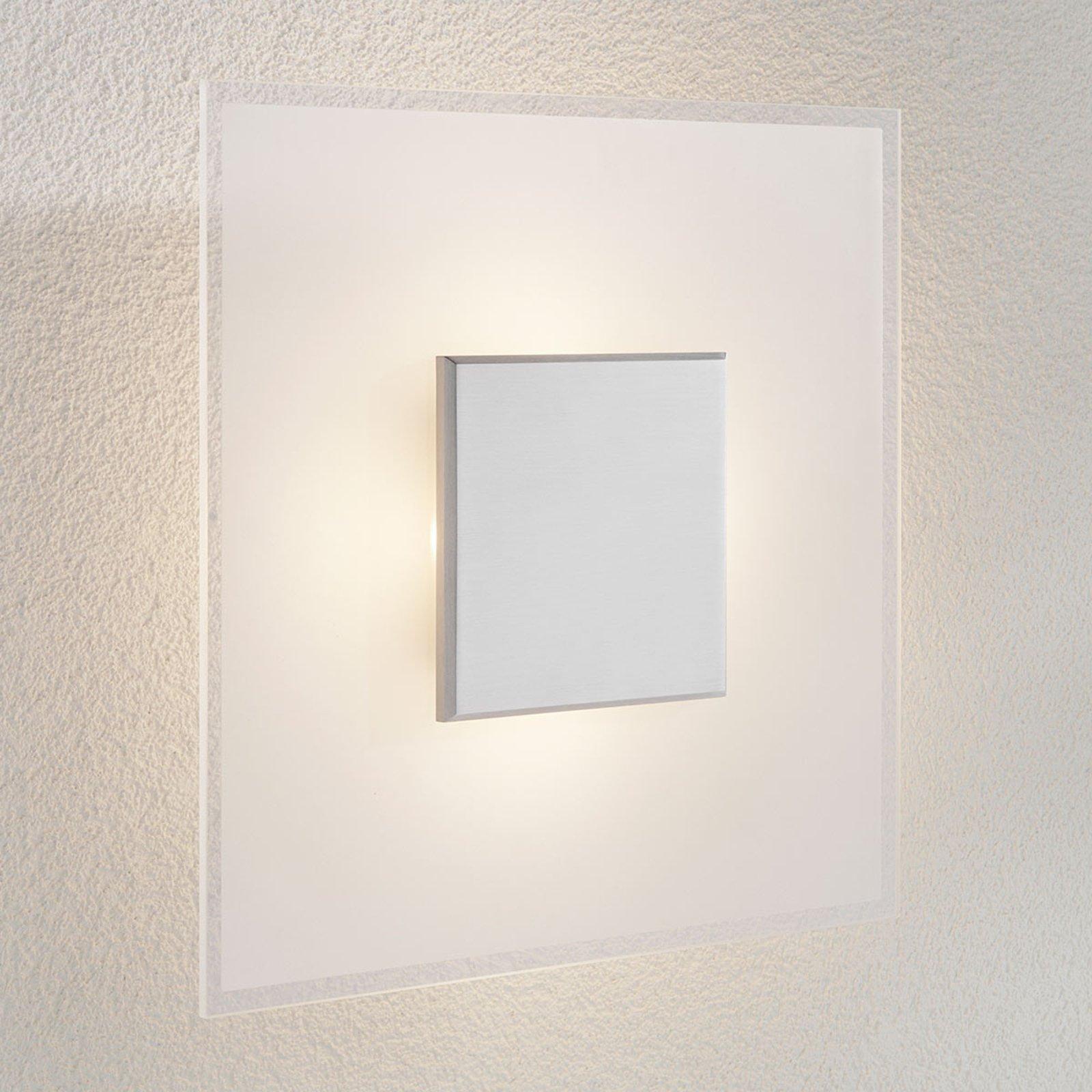 Dimbar LED-taklampe Lole i glass
