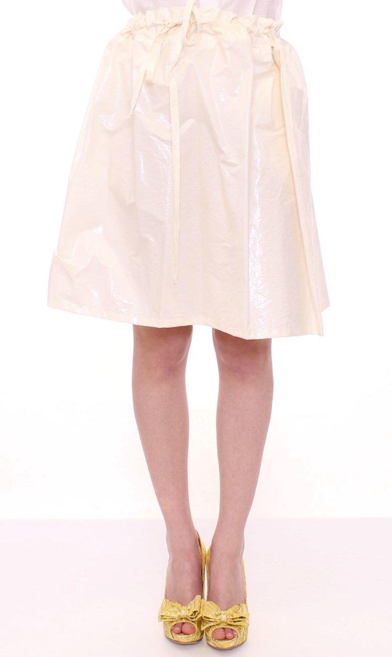 Licia Florio Women's Above-Knee Stretch Waist Strap Skirt White MOM10098 - One Size