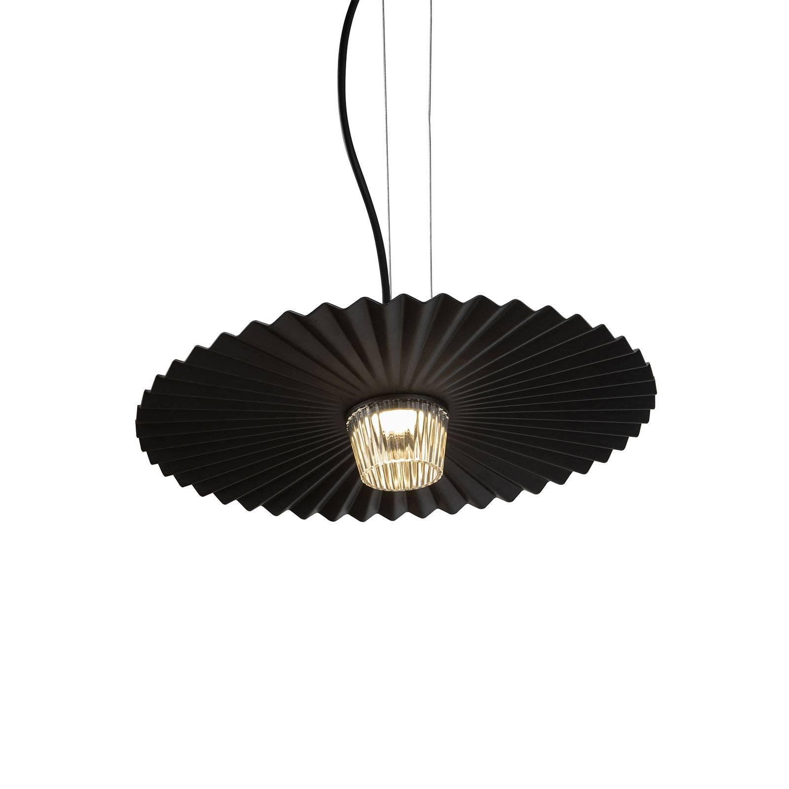 Karman Gonzaga -LED-riippuvalaisin Ø 42 cm musta