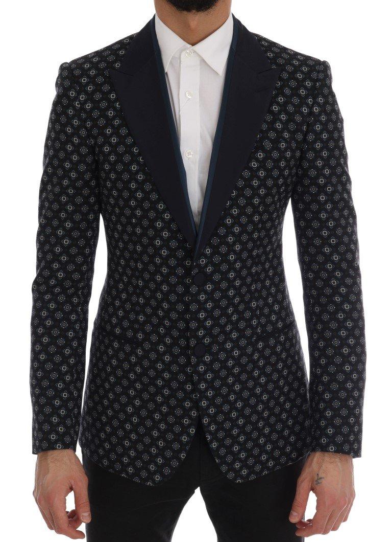 Dolce & Gabbana Men's Baroque Silk Wool Blazer Blue KOS1171 - IT46   S