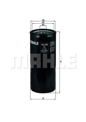 Öljynsuodatin KNECHT OC 246