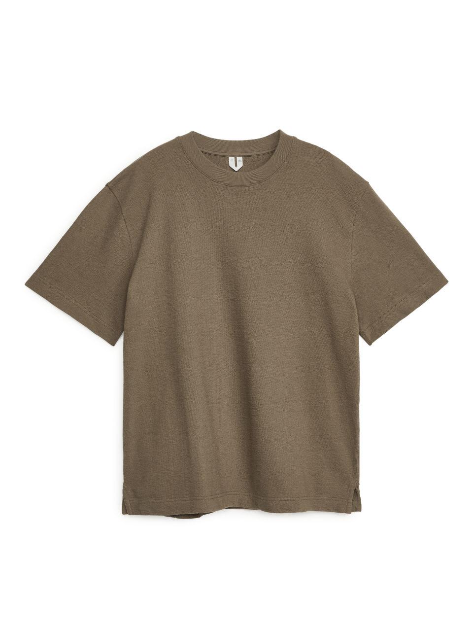 Cotton Towelling T-Shirt - Beige