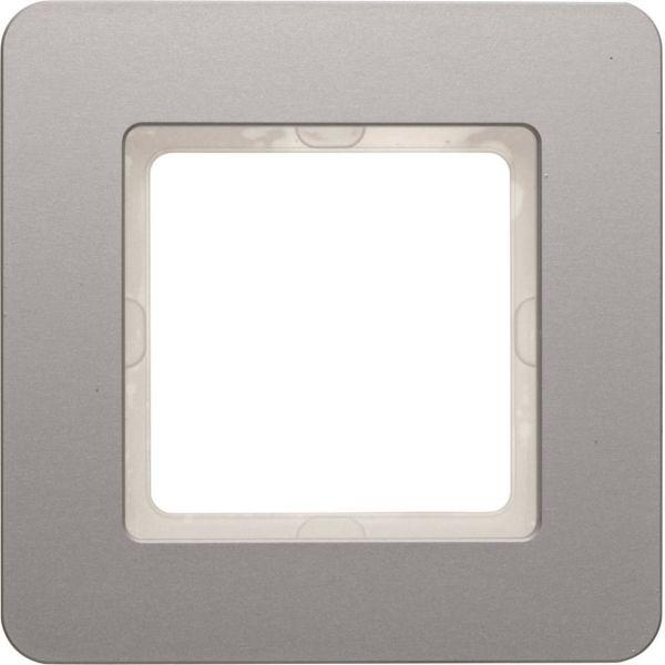 Hager 10116074 Peitekehys Berker Q.7:lle, alumiini 1-paikkainen
