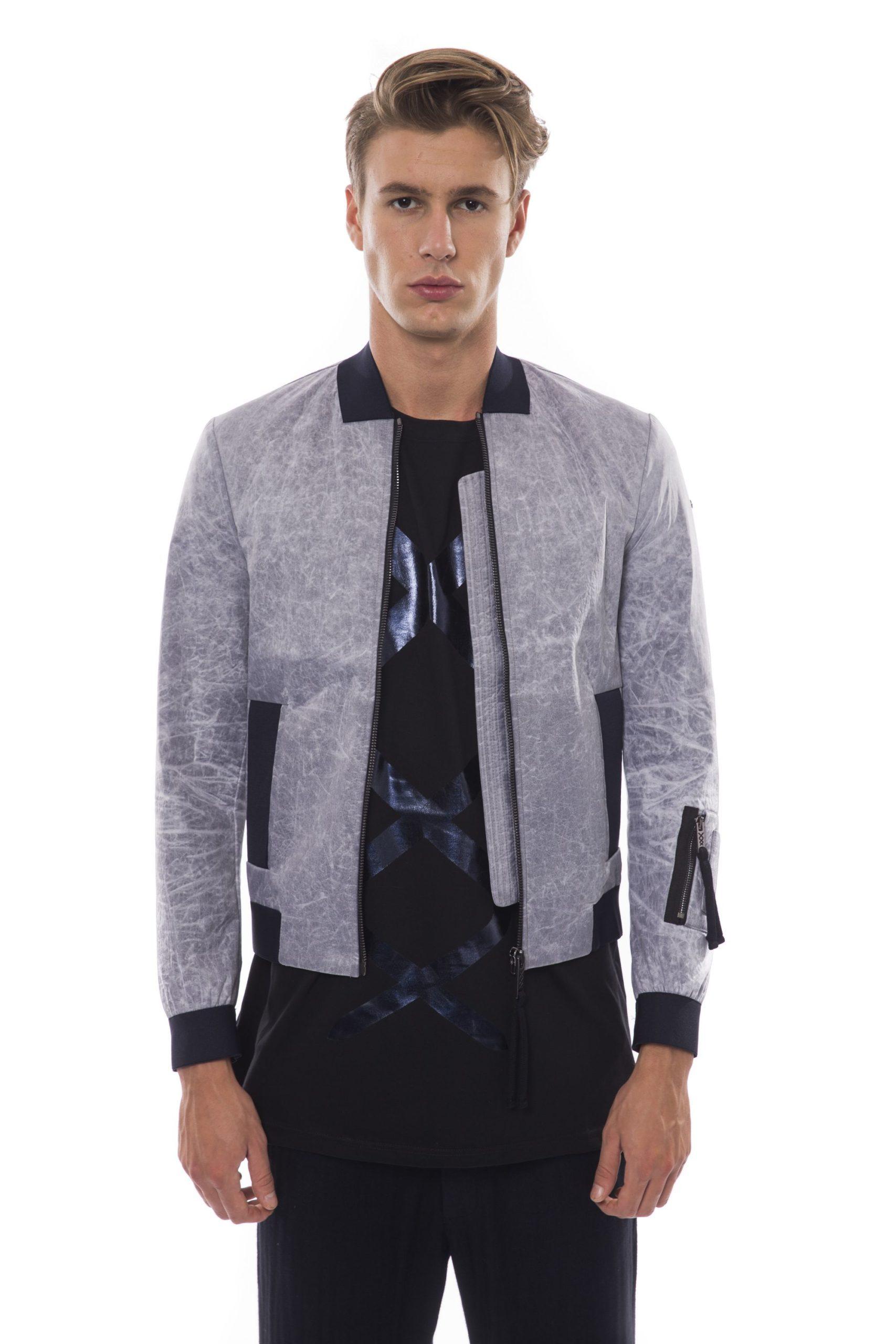 Nicolo Tonetto Men's Ghiaccio Ice Jacket Gray NI1281087 - XS