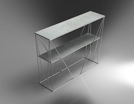 Cube Sidebord krom