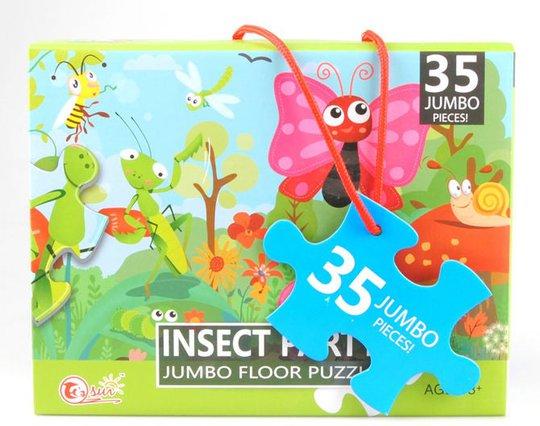 Suntoy Jumbo Insekter Puslespill 35 Brikker
