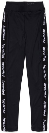 Hyperfied Tape Logo Tights, Anthracite 134-140
