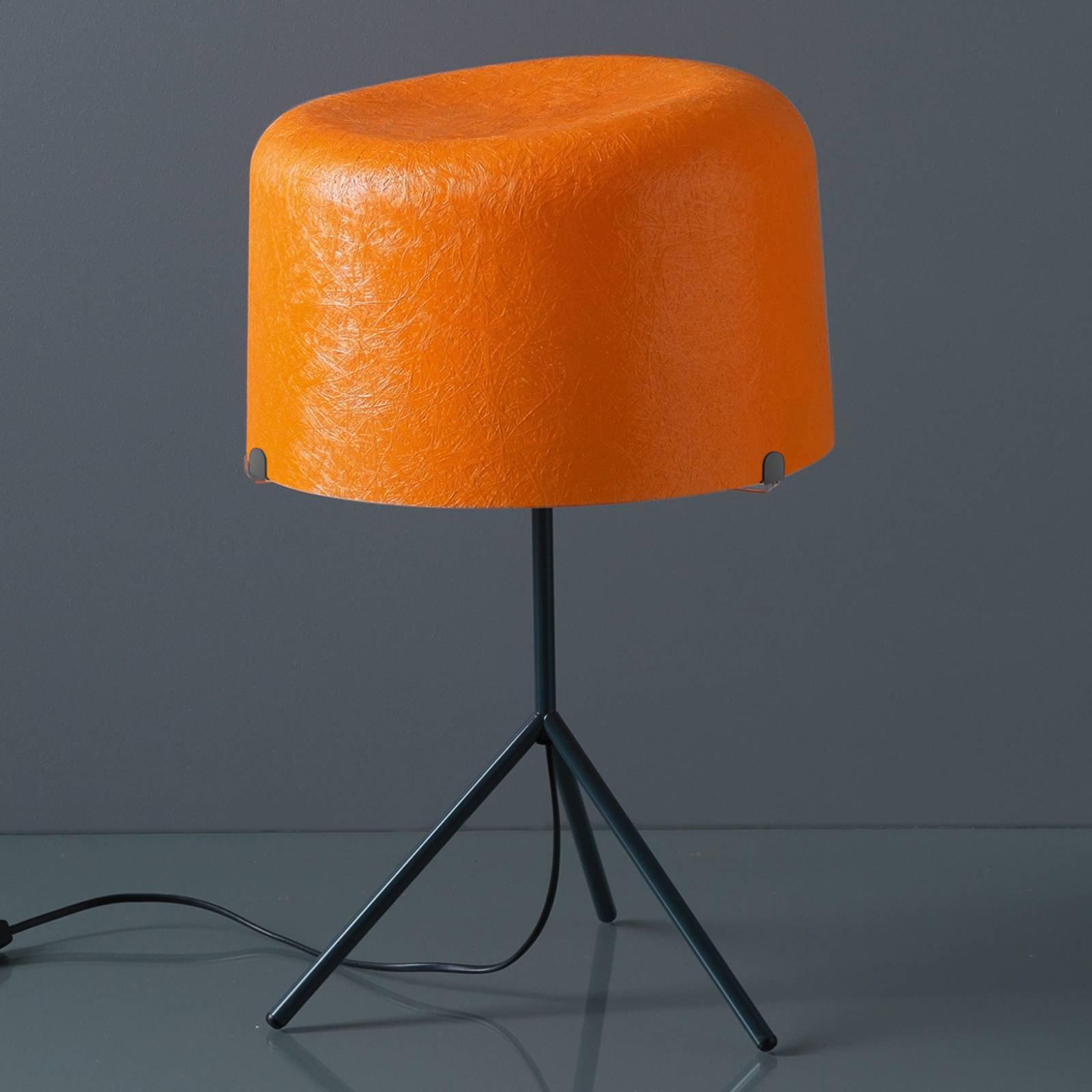 Bordlampe Ola av glassfiber, oransje, 53 cm høy