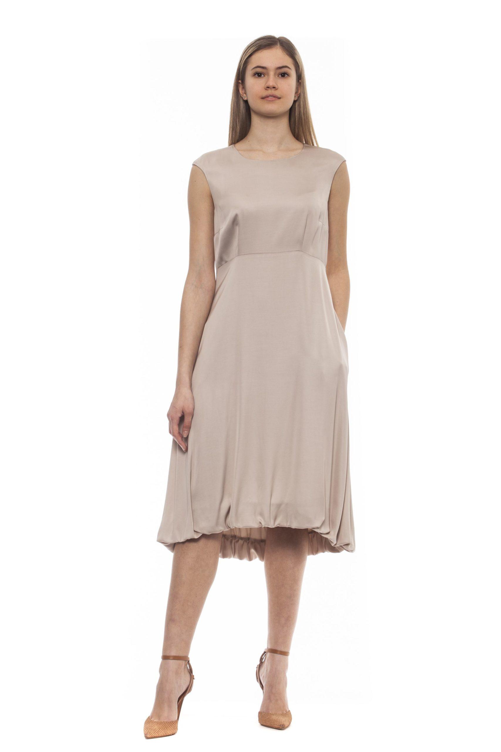 Peserico Women's Bianco Dress Beige PE1383230 - IT42 | S