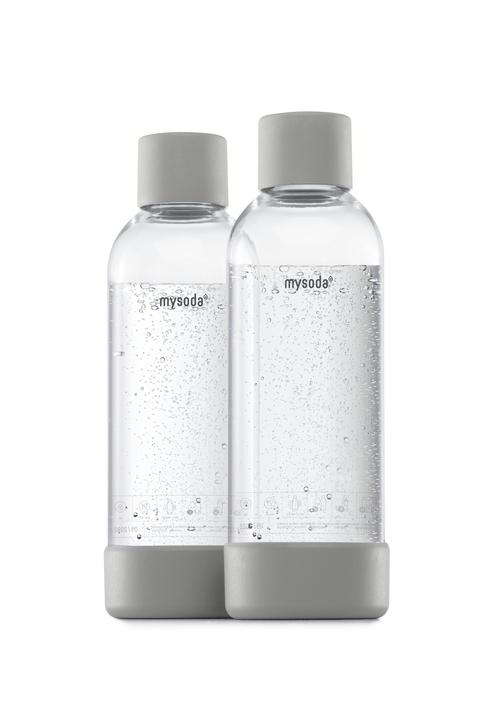 Mysoda 1l Flaske 2-pak Grey Kolsyremaskin - Grå
