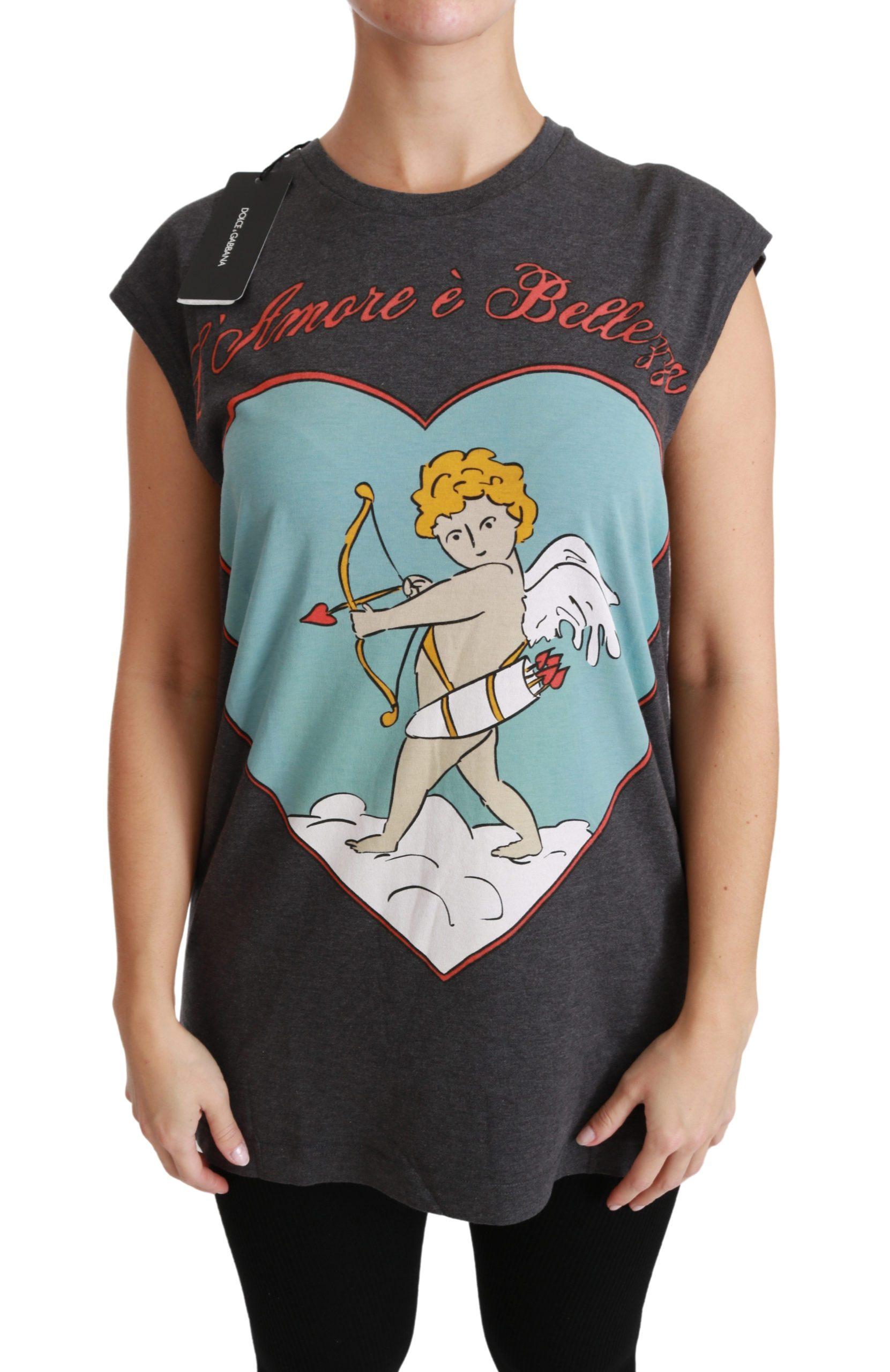 Dolce & Gabbana Women's L'Amore E'Bellezza Top Gray TSH4423 - IT36   XS