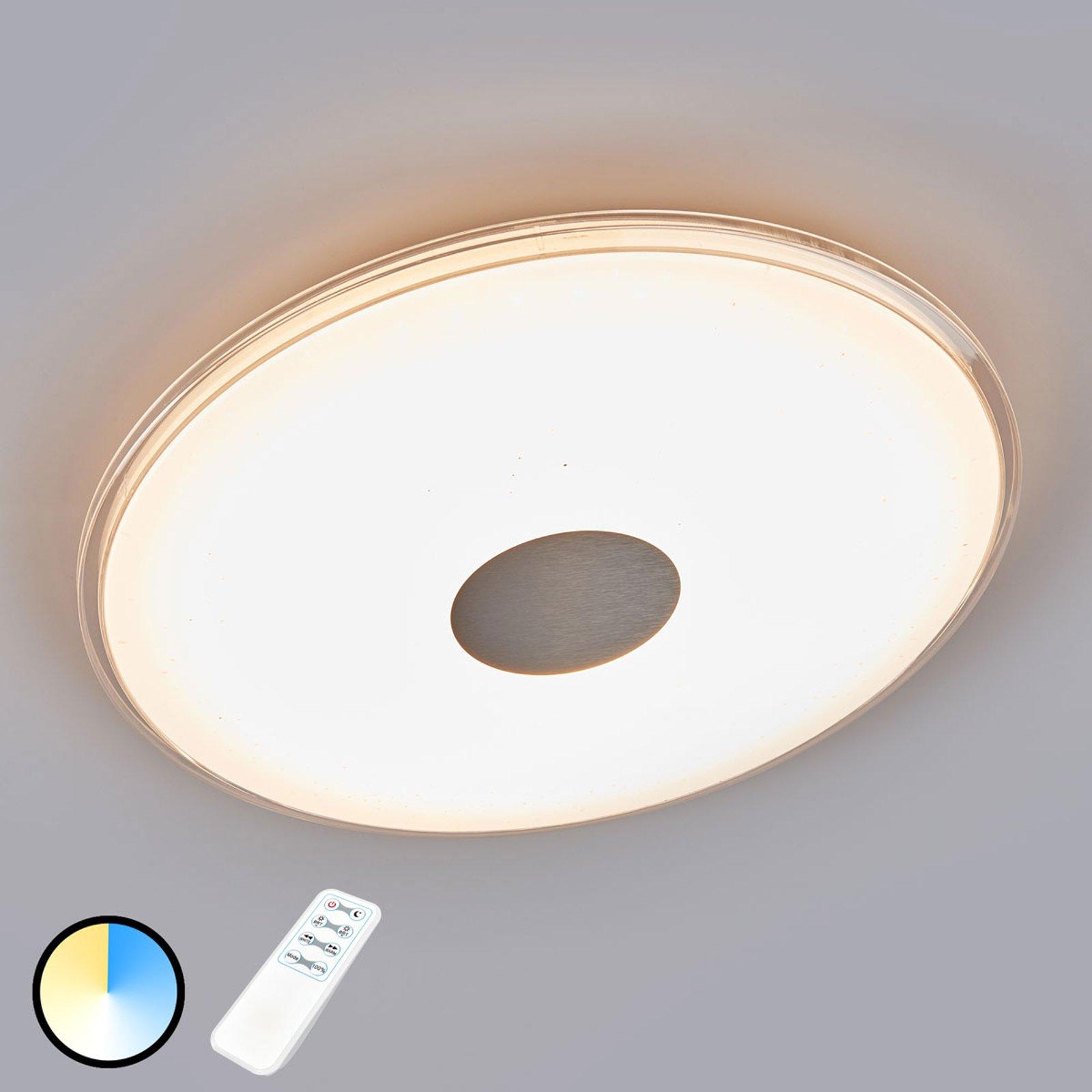 Rund LED-taklampe Shogun med strålende utseende