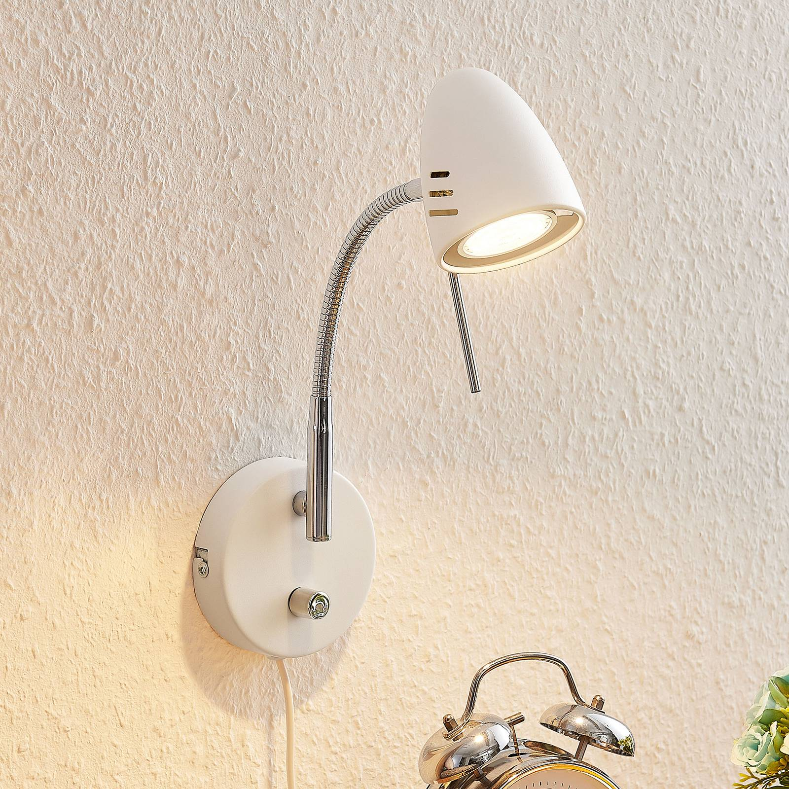 Lindby Heyko -LED-seinävalaisin, himmennettävä