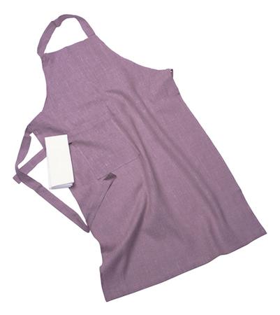 Erik classic langt forkle – Med håndduk, lilac