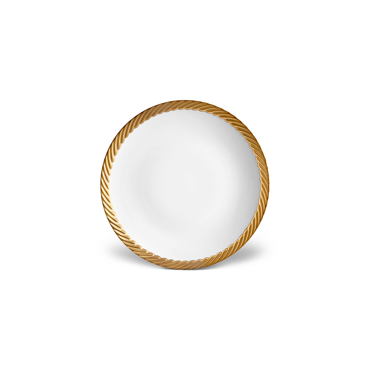 L'Objet I Corde Bread + Butter Plate Gold
