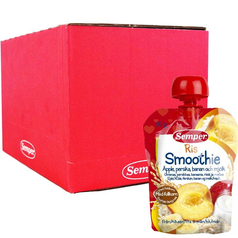 Laatikollinen Lastenruokaa Smoothie Riisi 12 x 90 g - 93% alennus
