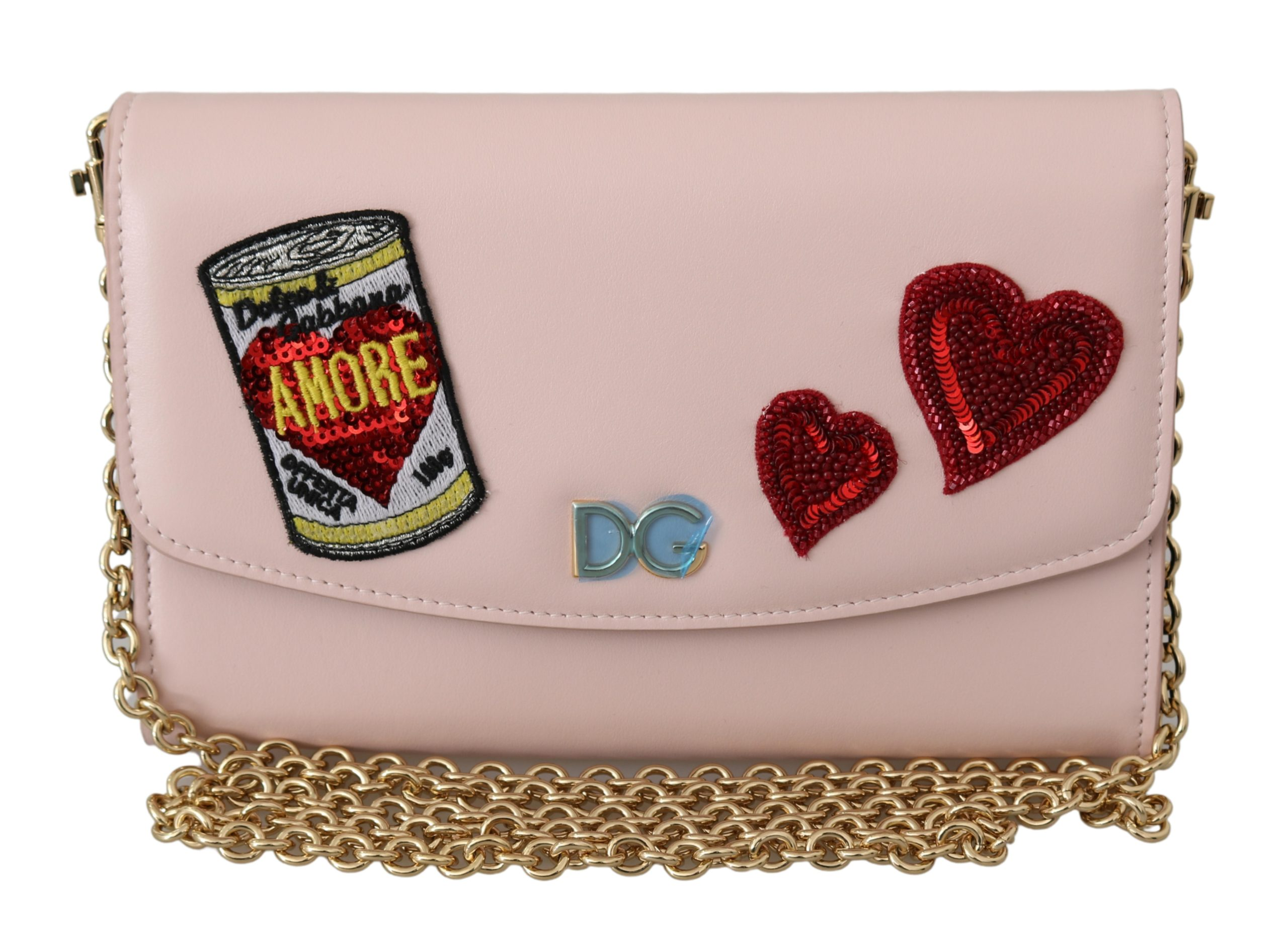 Dolce & Gabbana Women's Amore Patch Leather Shoulder Bag Multicolor VAS9569