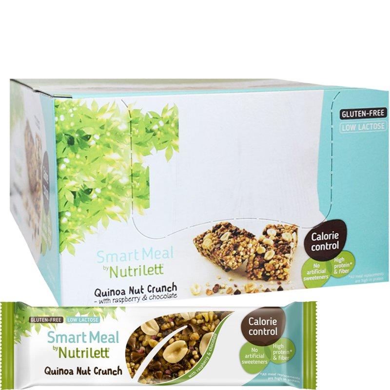 Måltidsersättningsbars Quinoa Nut Crunch 15-pack - 67% rabatt