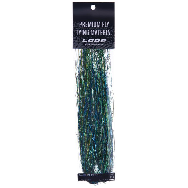 Loop Flash 2,5g - Clearwater Green Ekstra lange fibre (20cm)